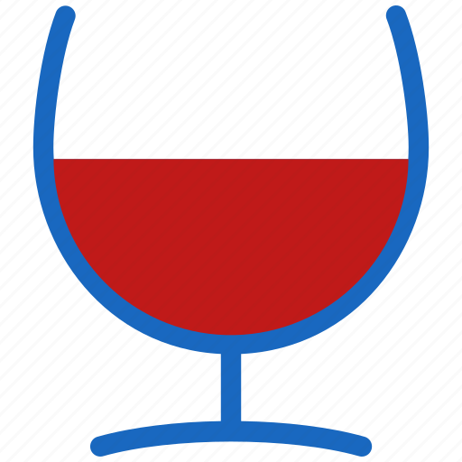 glass, red, wine icon