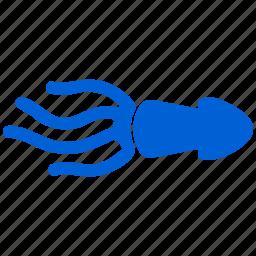 calamari, seafood, squid icon