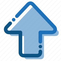 arrow, direction, interface, north, point, up icon