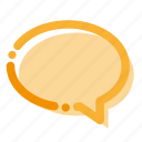 chat, interface, message icon