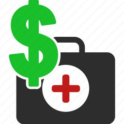 business, cash, dollar, finance, financial, first aid, health, healthcare, hospital, insurance, medical, medicine, payment, price, service icon