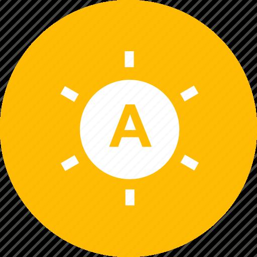 auto brightness, brightness, light, lightbulb icon