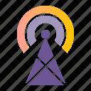 antenna, broadcast, podcast, signal, station, transmission