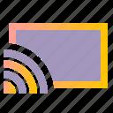 broadcast, screen, stream icon