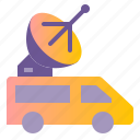 broadcast, live, signal, transmission, vehicle