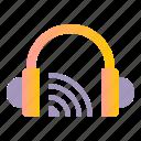 broadcast, cast, earphone, headphone, live, stream icon