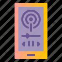 broadcast, cast, mobile, player, pod icon