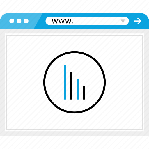 bars, browser, data, online icon
