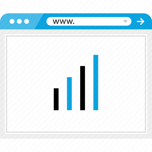bars, browser, graph, online, up icon