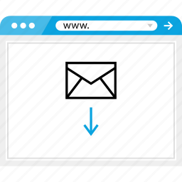 arrow, browser, email, mail, online icon