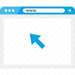 browser, click, mouse, online icon