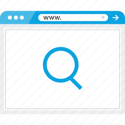 browser, find, look, online, search icon