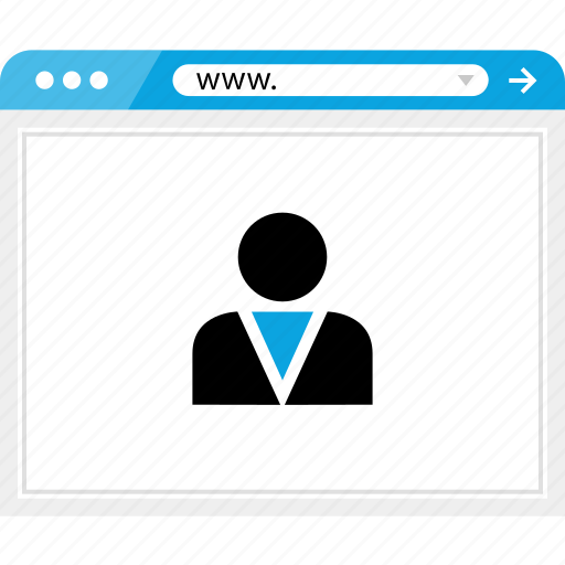 boss, browser, online, user icon