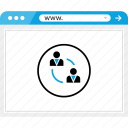 browser, online, team, user icon