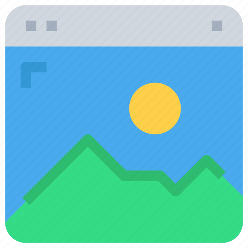 browser, gallery, interface, media, web icon