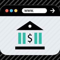 banking, internet, online, seo, web, webbrowser, www icon