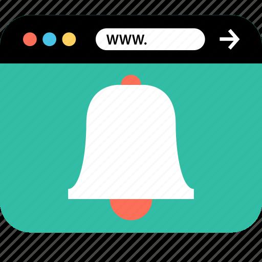 bell, internet, online, seo, web, webbrowser, www icon