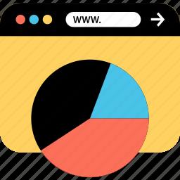 chart, internet, online, seo, web, webbrowser, www icon