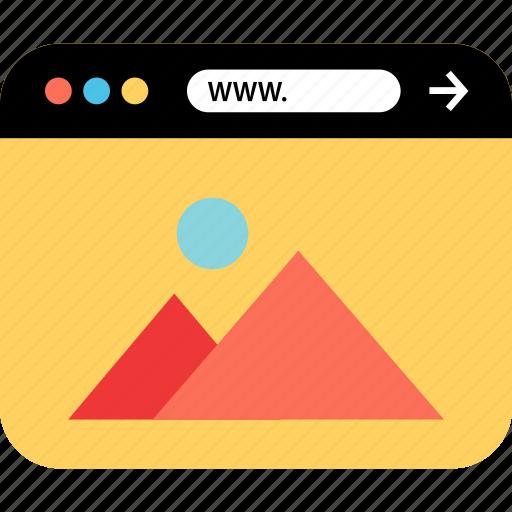 gallery, internet, online, seo, web, webbrowser, www icon