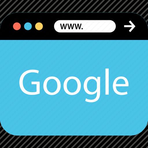 google, internet, online, seo, web, webbrowser, www icon
