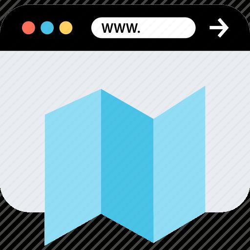 internet, map, online, seo, web, webbrowser, www icon