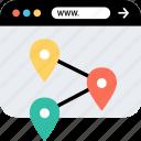 internet, online, pins, seo, web, webbrowser, www icon