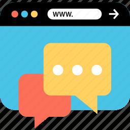internet, online, seo, talk, web, webbrowser, www icon