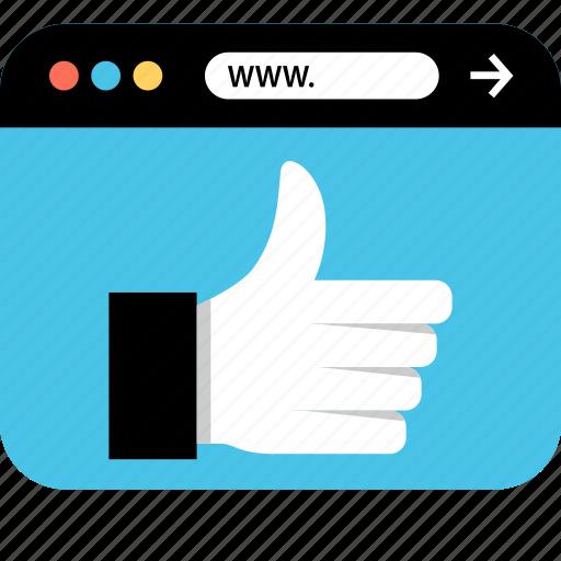 internet, online, seo, thumbsup, web, webbrowser, www icon