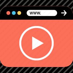 internet, online, seo, web, webbrowser, www, youtube icon