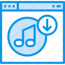 browser, download, interface, music, page, web, website icon