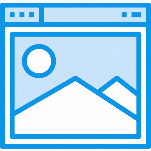 browser, interface, page, picture, web, website icon