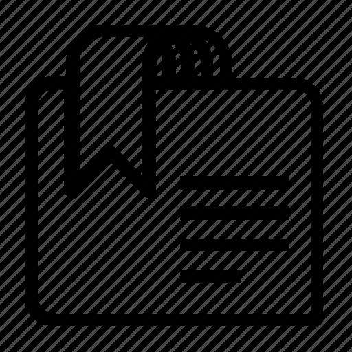 bookmark, document, favorite icon