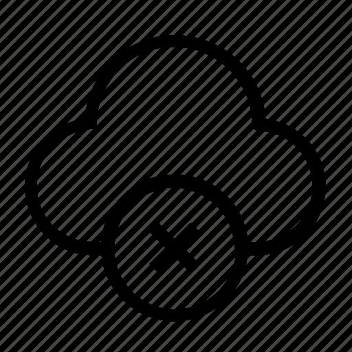cancel, cloud, data icon
