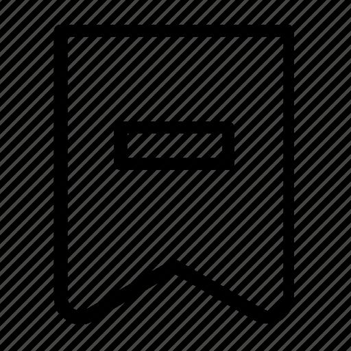 bookmark, delete icon