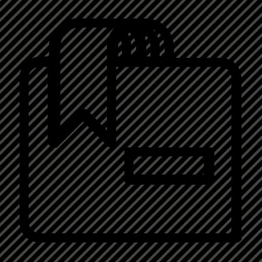 bookmark, delete, document icon