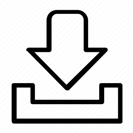 arrow, down, download icon