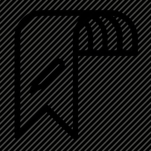 bookmark, change, edit icon
