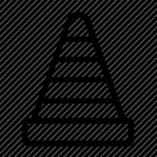 cone, construction, street icon