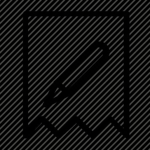 bookmark, edit, favorite icon