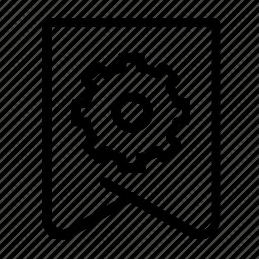 bolt, bookmark, settings icon