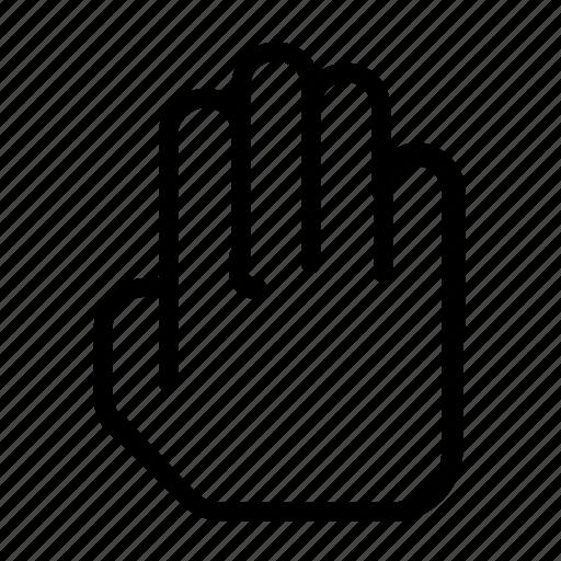 block, hand, stop icon