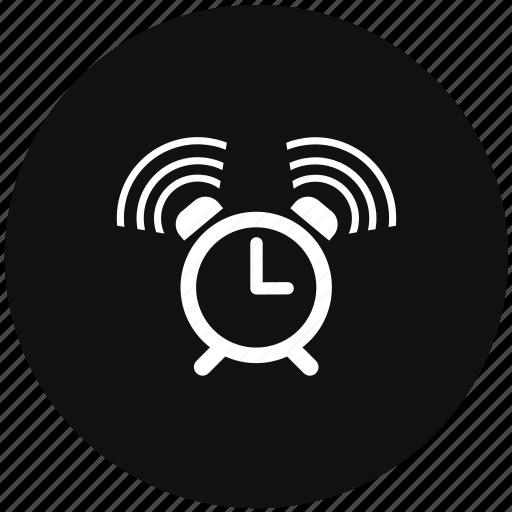 alarm, signal, time, warning icon
