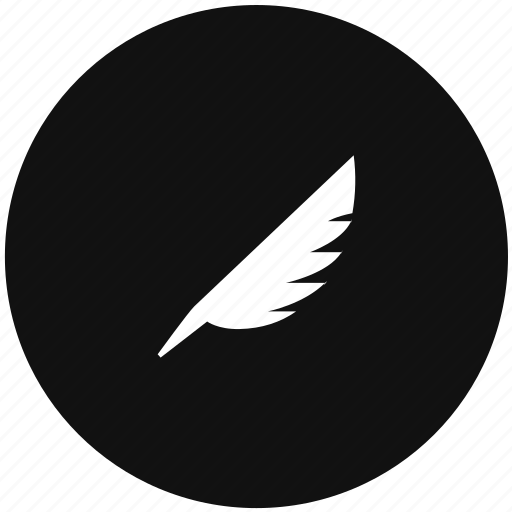 draw, feather, instrument icon