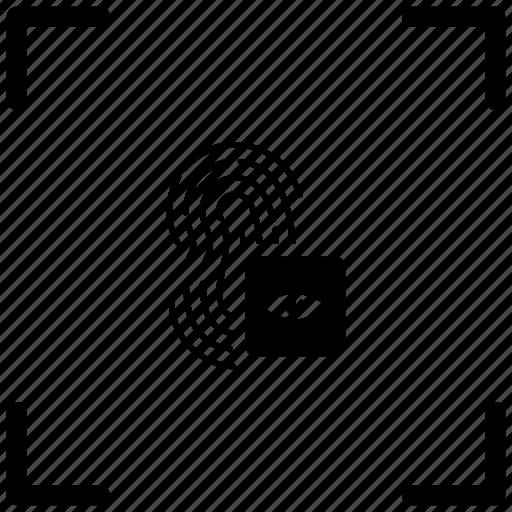 access, biometry, dactyl, eye, finger icon