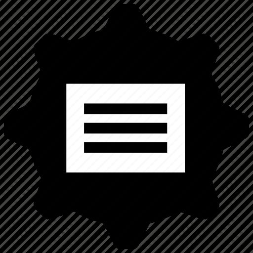data, info, text, window icon