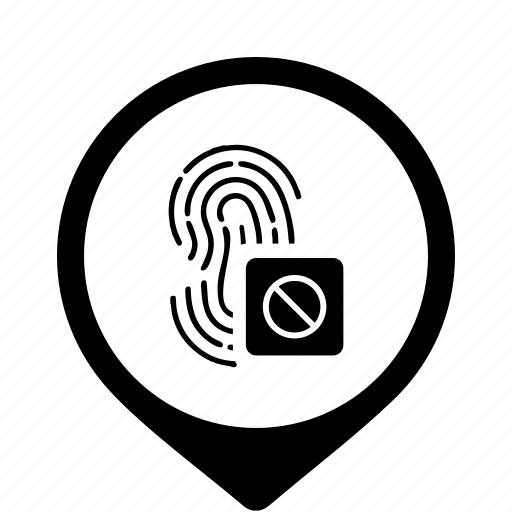 access, biometry, dactyl, data, finger icon
