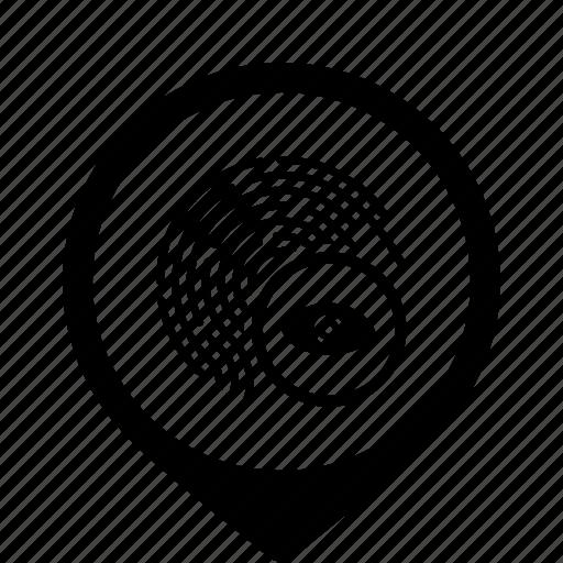 access, biometry, dactyl, eye icon