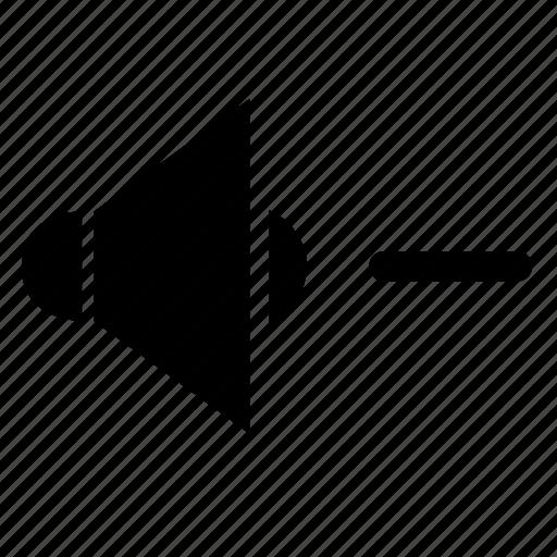 browser, level, minus, sound, volume icon
