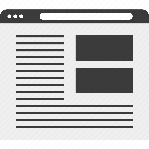 browser, pictures, web, wireframe icon