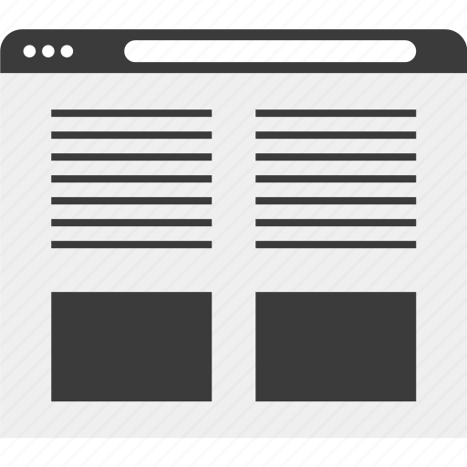 grid, web, website, wireframe icon